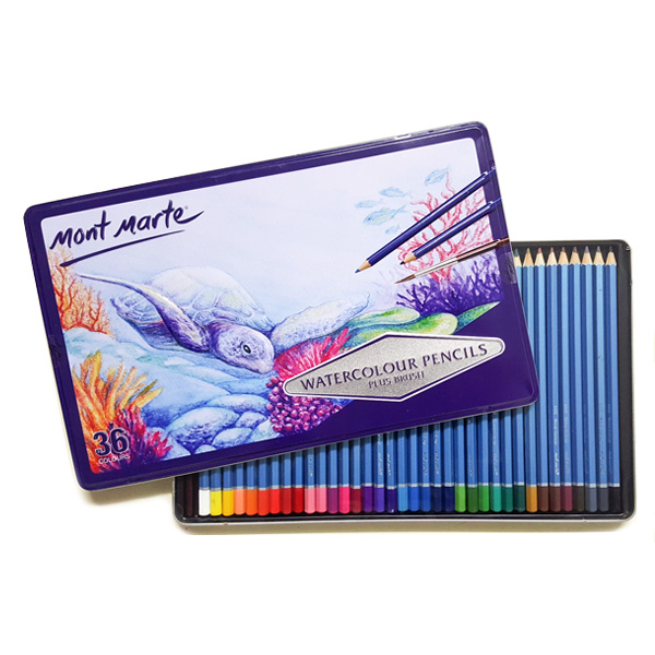 mont marte watercolour pencil set 40
