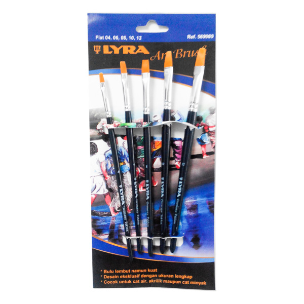 lyra art brush set flat isi 8