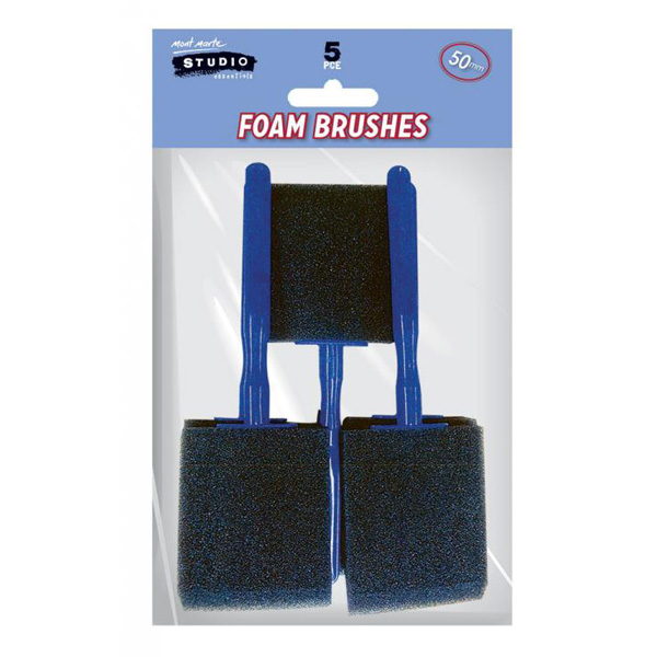 mont marte foam hobby brush 50mm set 9