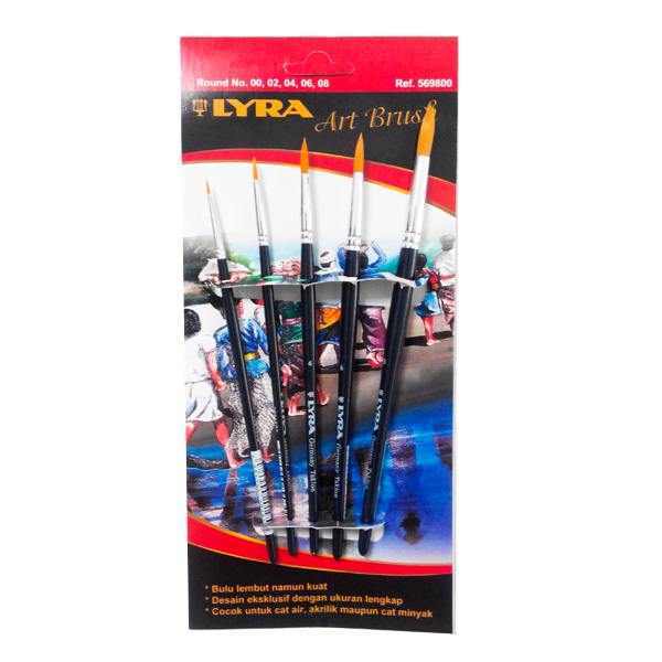 lyra art brush set round isi 5