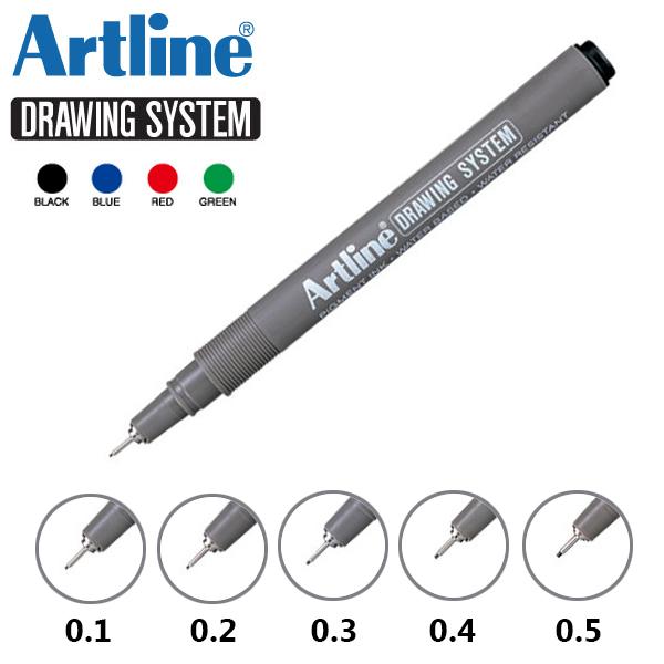 artline drawing system pen 7