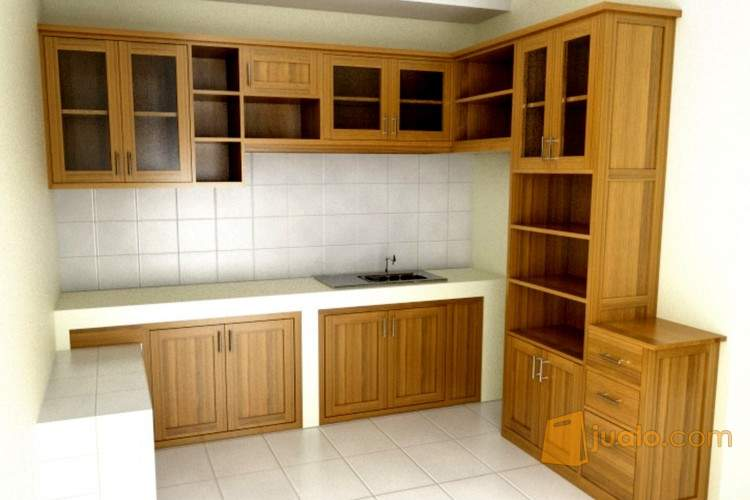 Jual kitchen set minimalis pakar jaya kusen pintu for Harga kitchen set minimalis per meter