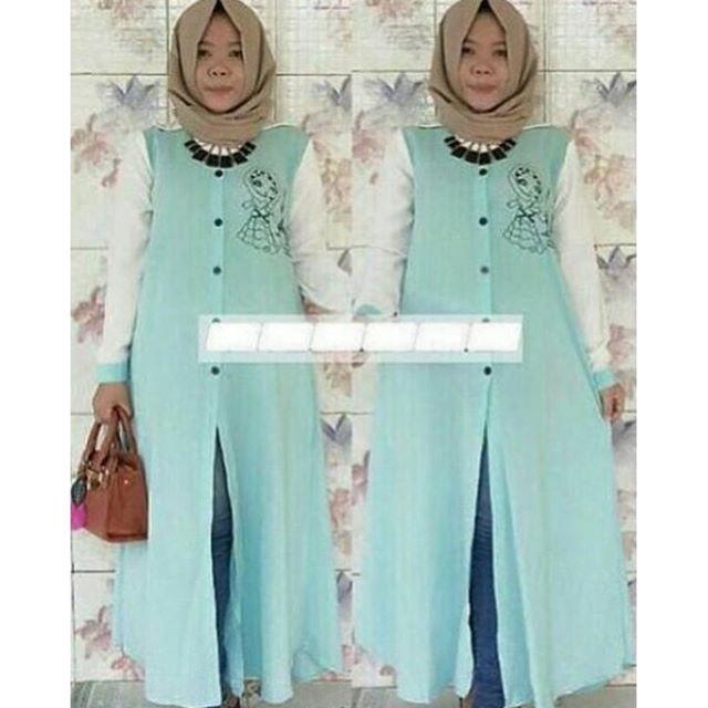 Baju Hijab Murah Heva Long Mint