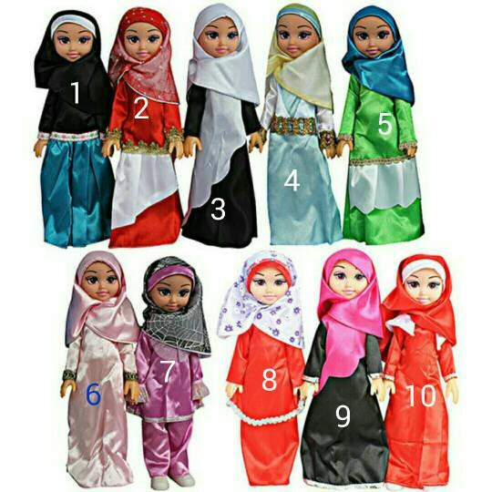 Boneka muslim hijab aisah lagu ummi