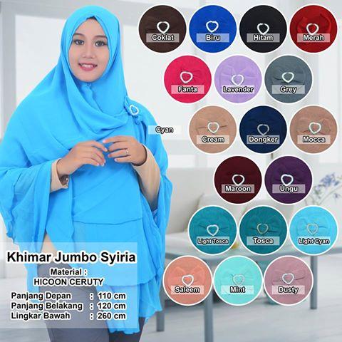 HIjab/Jilbab/Khimar/Hijab Syiria Jumbo
