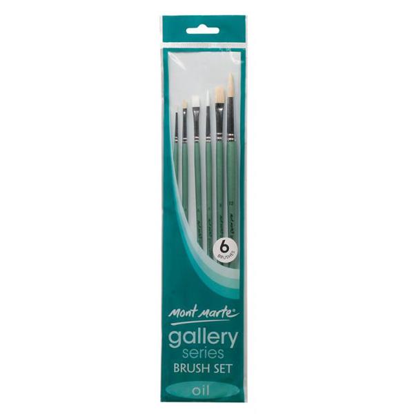 mont marte gallery series brush oil set 14