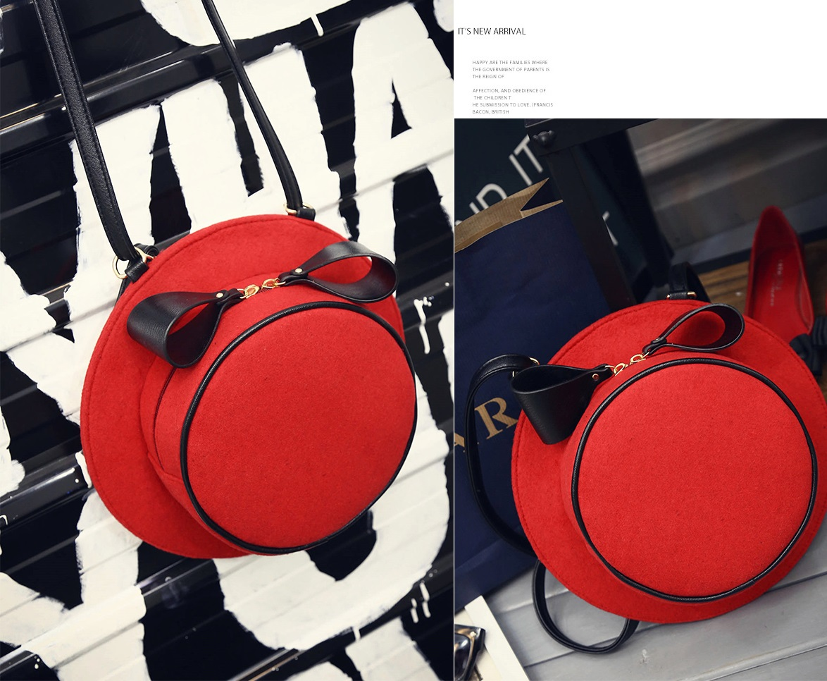 Hat package Bag (Black,Red) - 0433