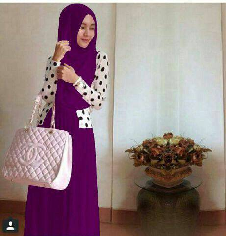 Setelan shireen polka hijab 3in1 READY 8 WARNA
