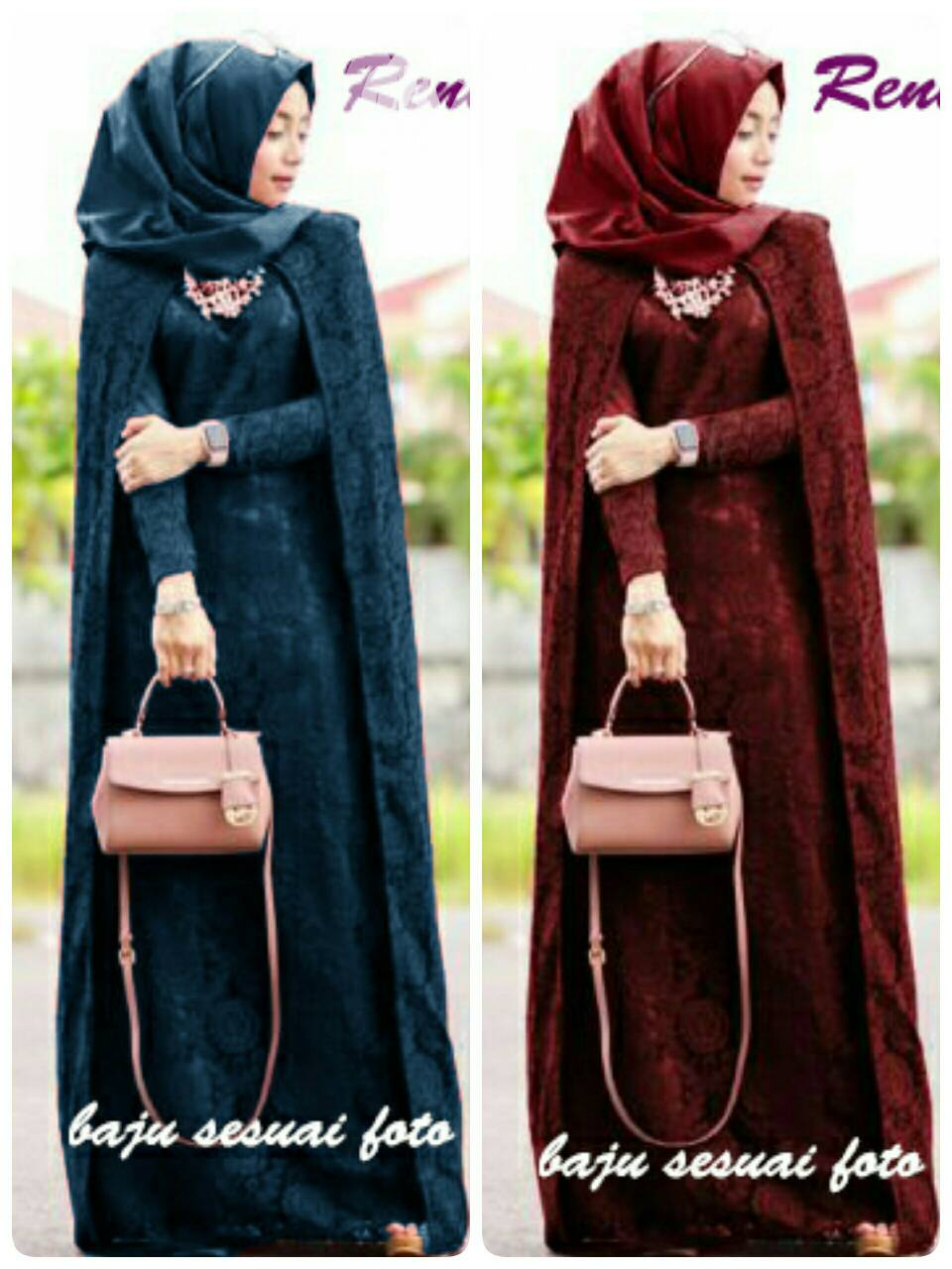 V1099 Maxi Crepe Reren hijab dress