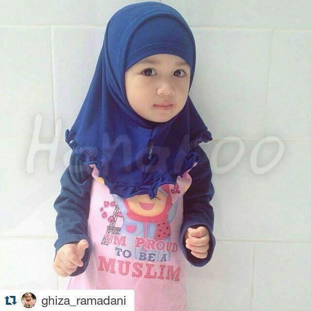 Jilbab Bayi (0-2 tahun, size S) Kerudung Hijab Anak Kecil Baru Lahir
