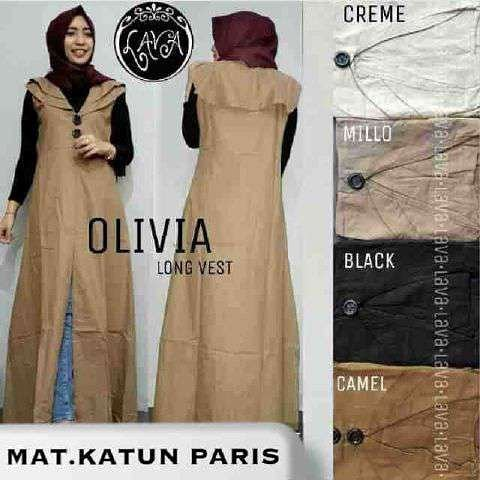 Vest Hijab Terbaru - Olivia Long Vest