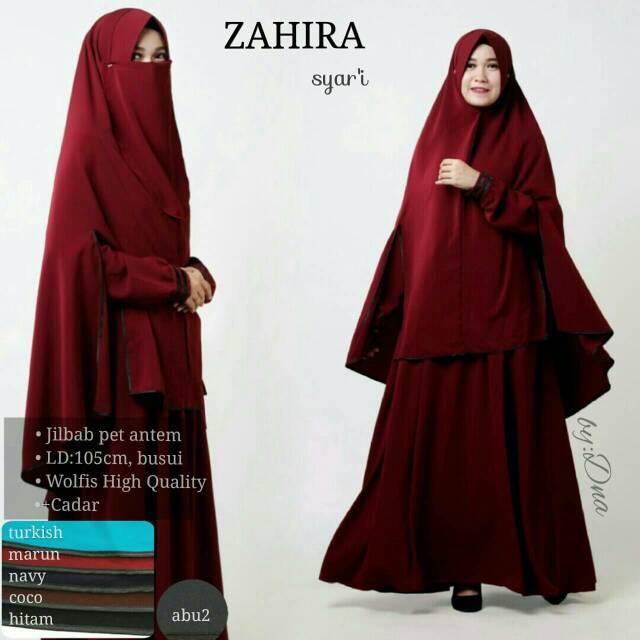 Set. Gamis Cadar Tali - Hijab Standart