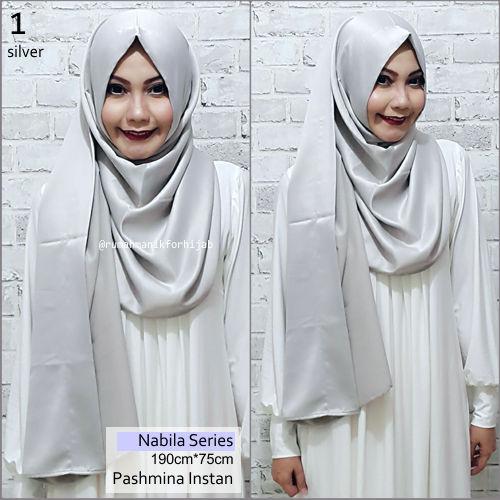Pashmina Instan Nabila Series Silver | No. 1 | vanilla hijab