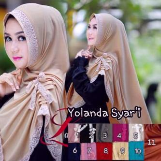 Yolanda syar,i seri jersey /kerudung/hijab/pasmina/syari