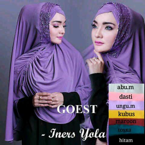 iners yola seri+iner rb ready bahan jers /kerudung/hijab/pasmina/syari