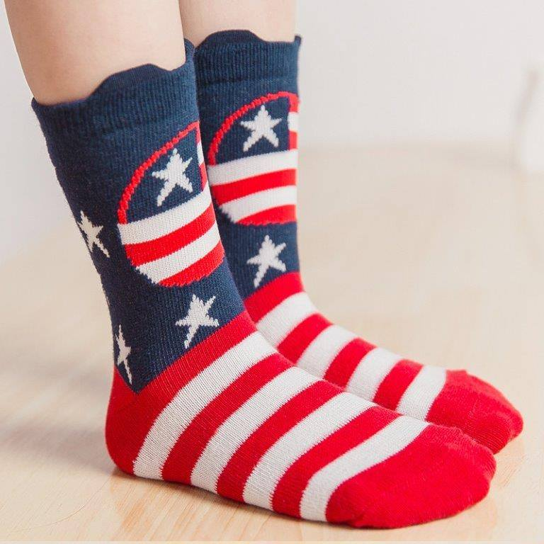 KAOS KAKI ANAK CORAK USA FLAG 4-6TH (RSBY-1802)