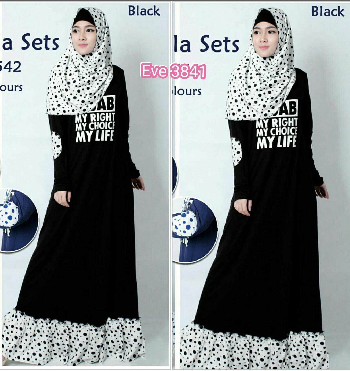 Resyock Eve 3841 / gamis hijab