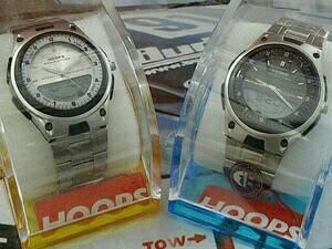 Jam Tangan Pria & Wanita HOOPS Original Dual Time