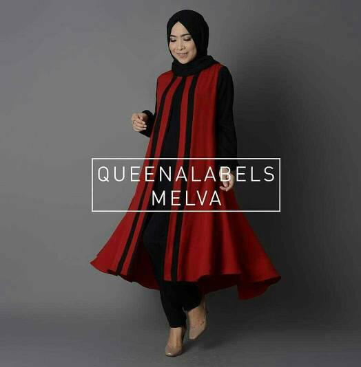 V1110 Hijab MELVA SET Merah