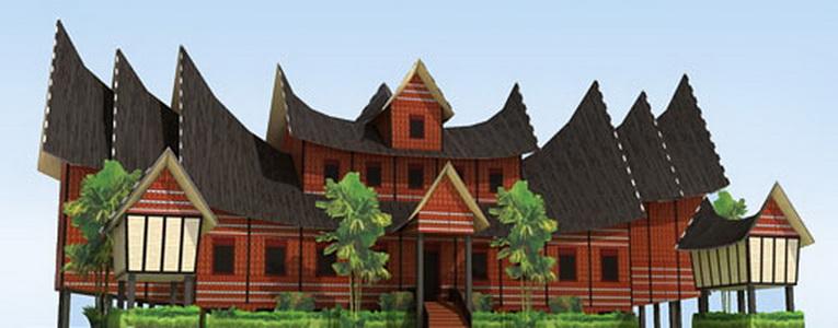 55+ Gambar Rumah Gadang Sederhana HD Terbaru