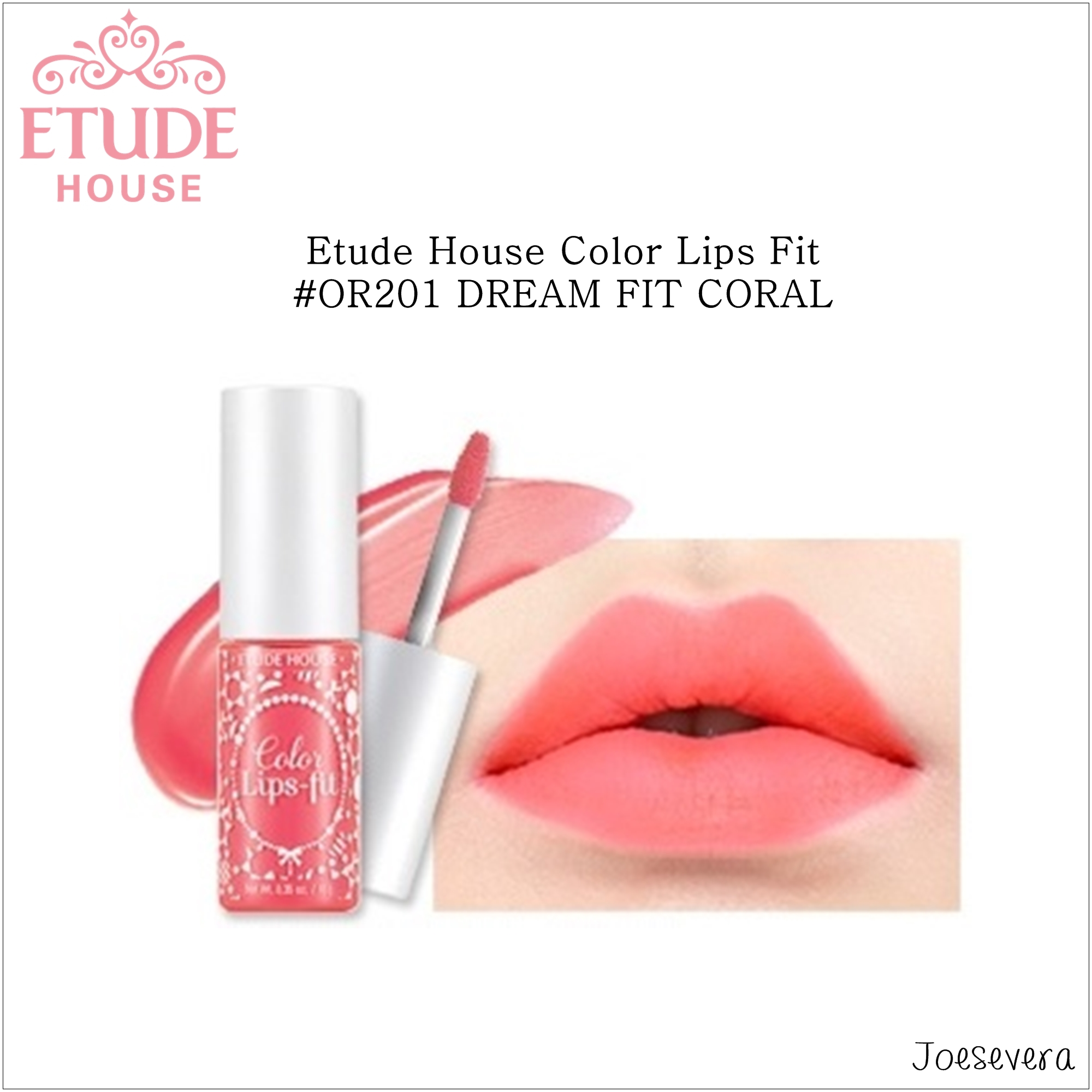 Jual Etude House Color Lips Fit #OR201 DREAM FIT CORAL - Joesevera ...