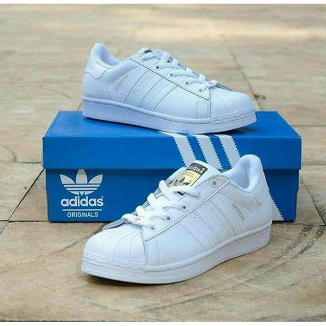 adidas superstar full white
