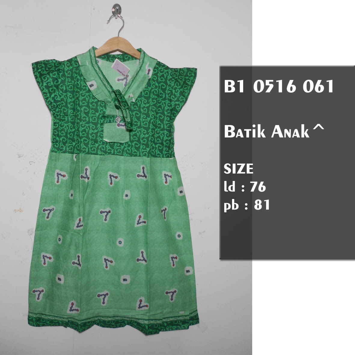 Jual Dress Batik Anak Usia 7 8 9 Sekdress Anak Murah Dress