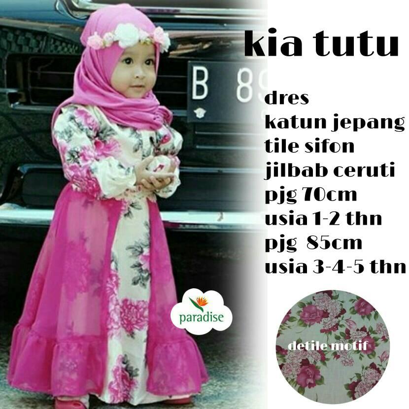suplier hijab solo / kia tutu / dres syarii kid anak