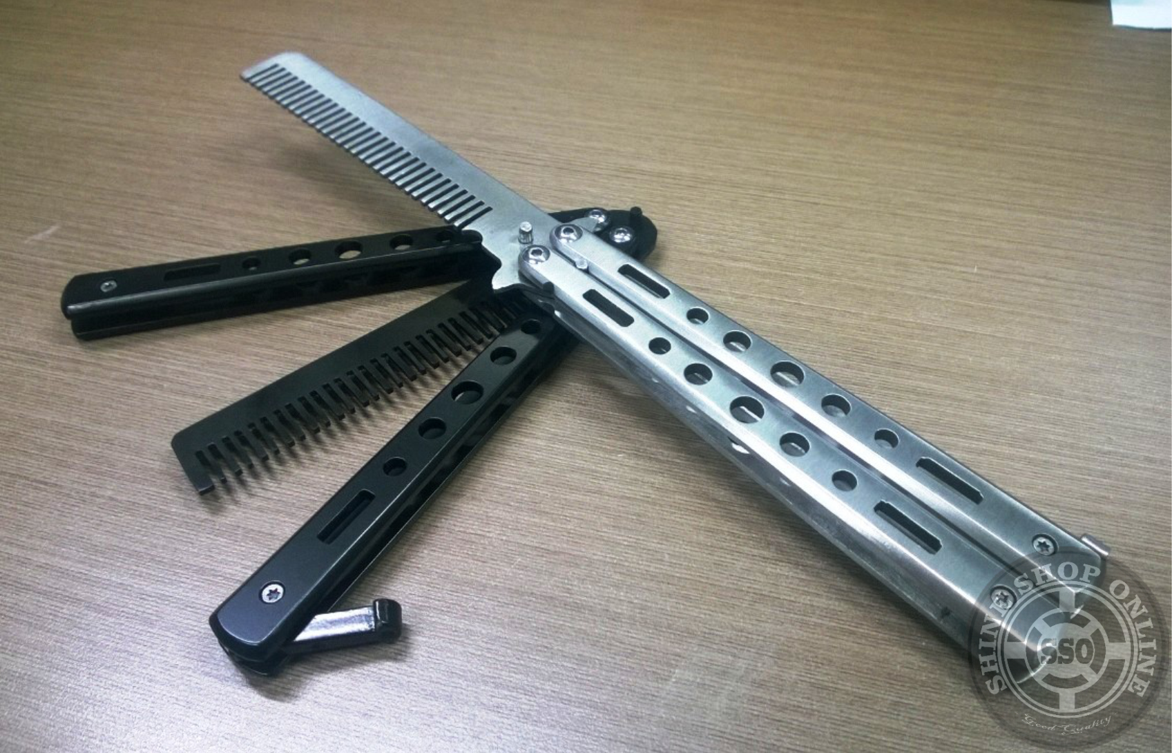 Benchmade Balisong Butterfly Comb Silver Cek Harga Terkini Dan Switch Blade Sisir Pomade Knives Knife Center Source Jual Black And