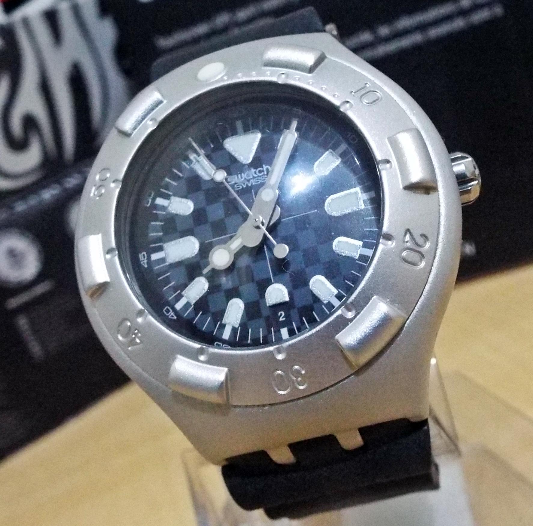 Jual swatch vortex obscure irony scuba 200 alumunium dive - Swatch dive watch ...
