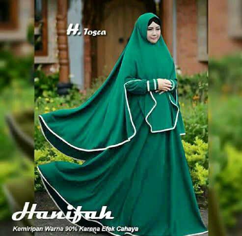 Pakaian wanita baju muslim Hijab Syar'i Busui + Bergo (Hanifah Syari)