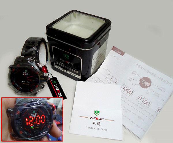 Jam Tangan Pria Weide Dual Time WH2309 Original Water Resistan 30M
