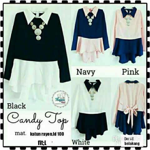 candy top matt ktun rayon (blouse,atasan,muslim,hijab)