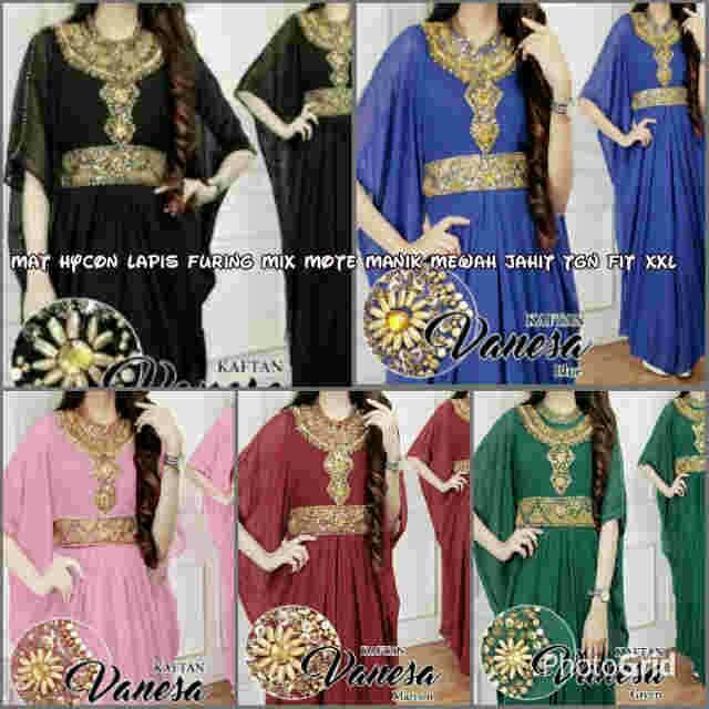 Baju Muslim Wanita/Baju Kaftan Vanesa/Baju lebaran/Hijab Dress modern