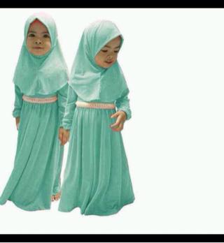 hijab bergo anak / gamis anak / baju muslim anak anako dress & jilbab