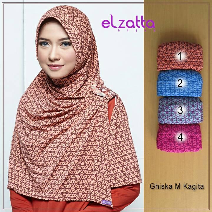 ELZATTA Zaria M Kagita Bergo | Jilbab Instan | Kerudung | Hijab