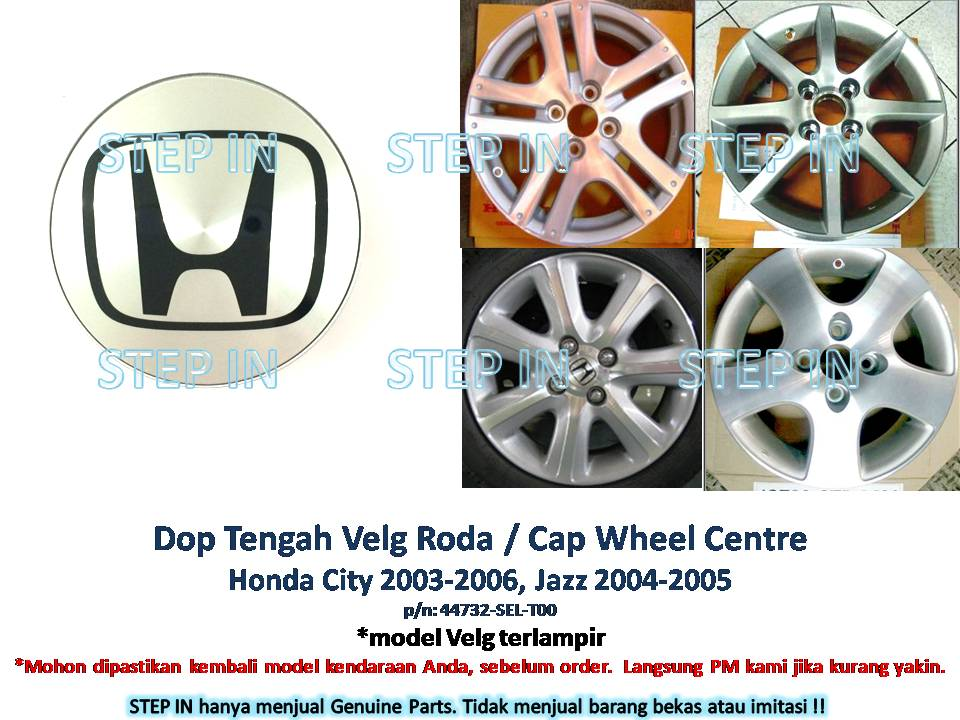 DOP Tengah VELG Roda Honda JAZZ 2004-2005 Cap Wheel CITY 2003-2006