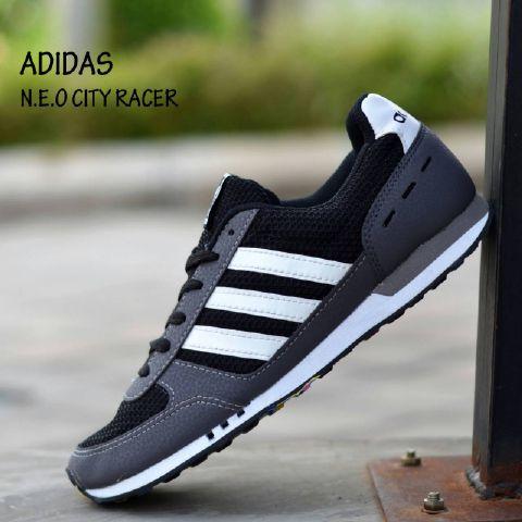... shop sepatu adidas neo city racer man made in vietnam hitam list abu  harga e36ee 2bd1a 0acf06c3b0