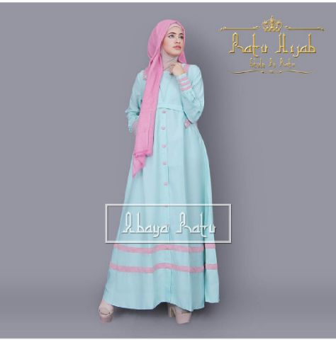 m syakira pink katun 1 (gamis,hijab)
