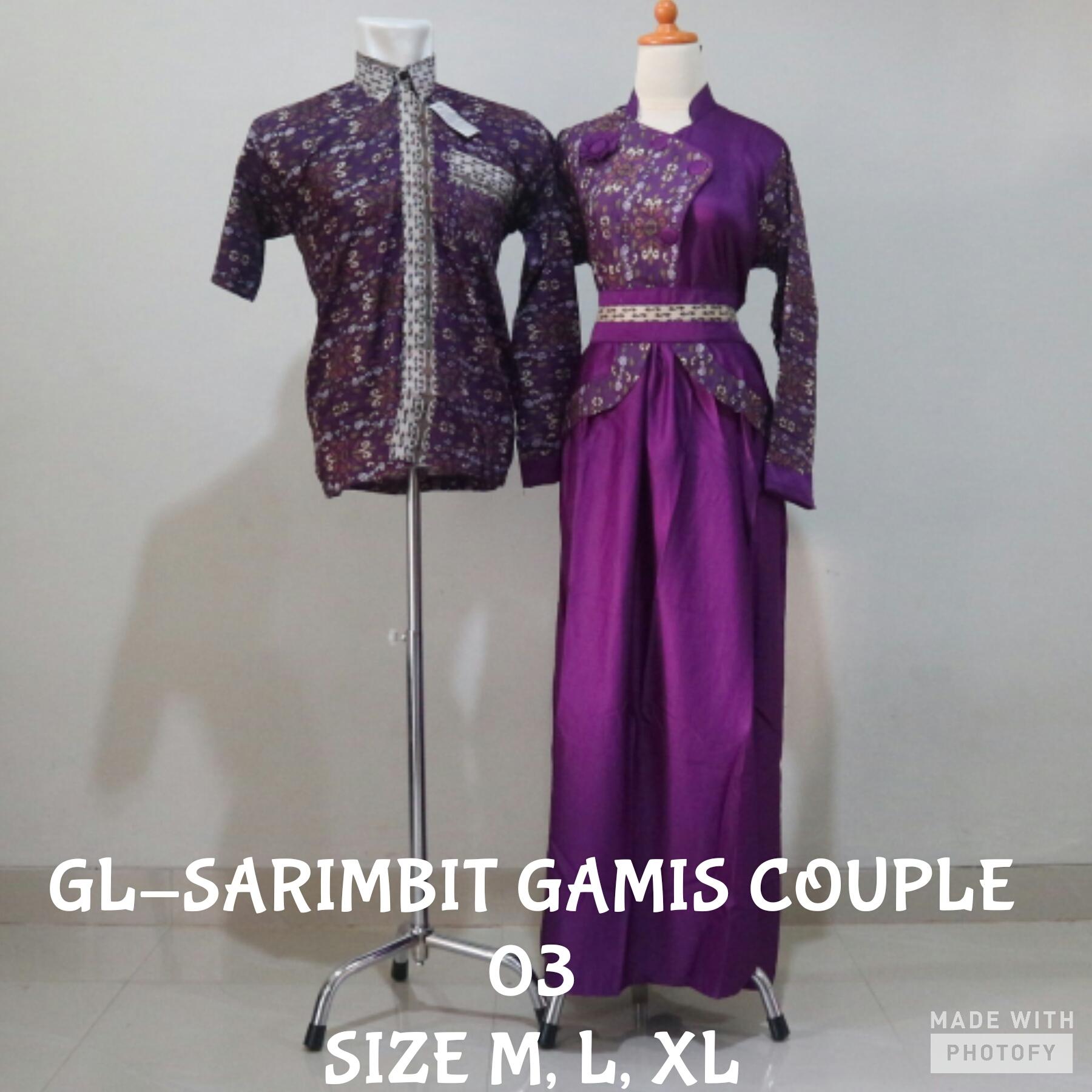 Jual Koko Longdress Batik Sarimbit Gamis 03 Baju Lebaran