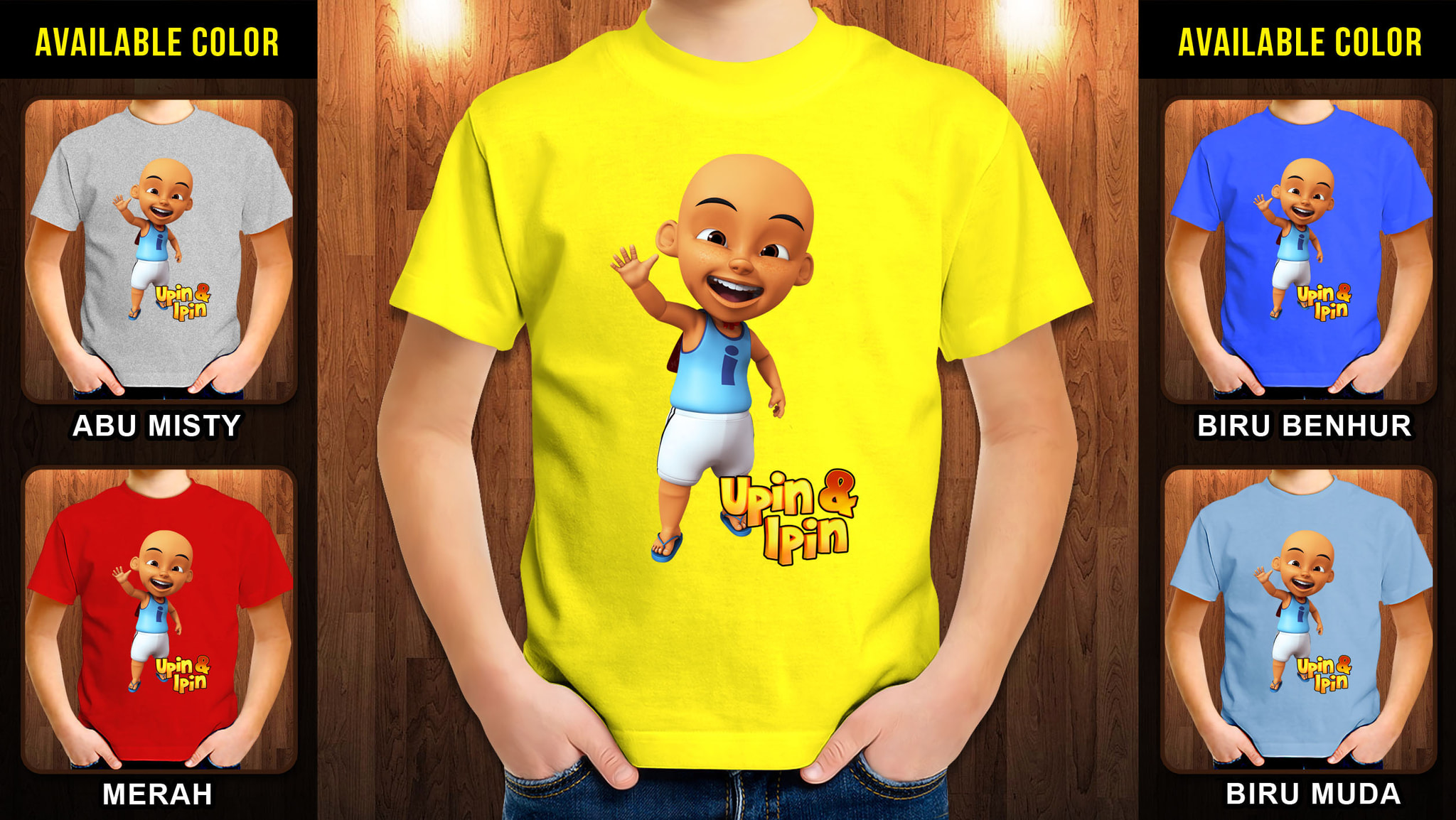 Jual Kaos Anak Upin Ipin 27 Free Name Tag Bigbullstudio Di T Shirt Raglan Ajs128 Tokopedia