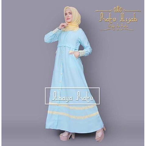 Baju Hijab Murah Syakira Abaya Ratu Blue (Tanpa Pashmina)