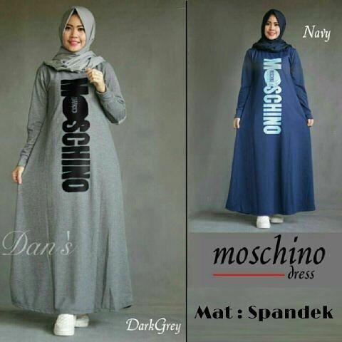 Baju Hijab Murah New Moschino Dress