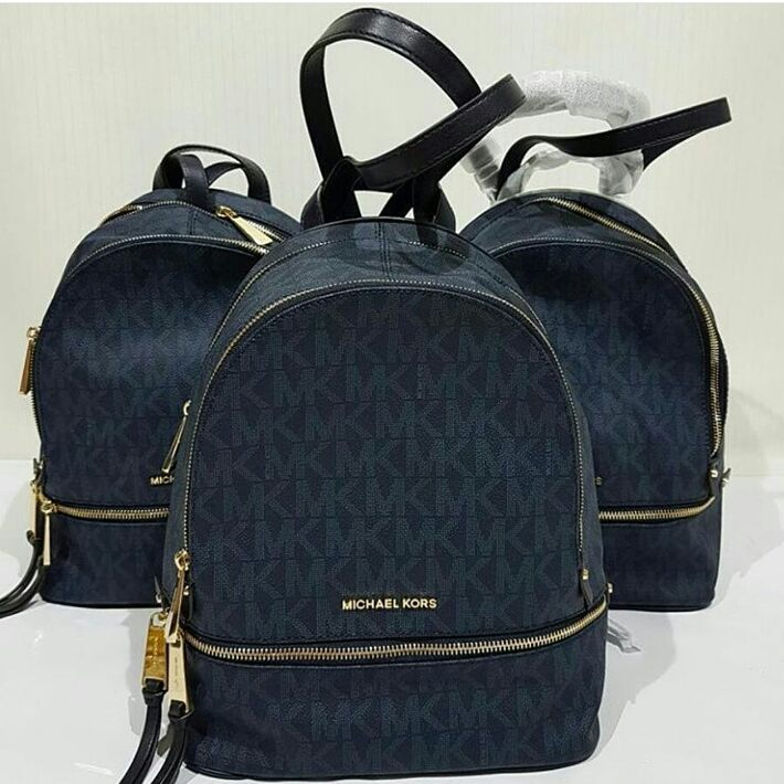 fc7d1962b32da0 7ae85 79a9e; top quality jual tas michael kors rhea navy backpack original  asli 1f146 c0850