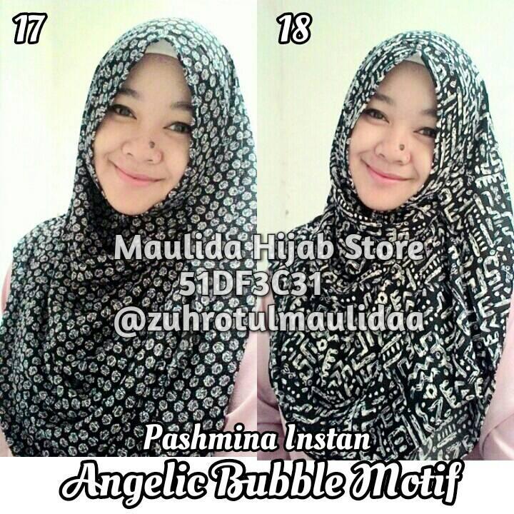 Pashmina Instan Angelic Bubble Motif / Grosir hijab / khimar