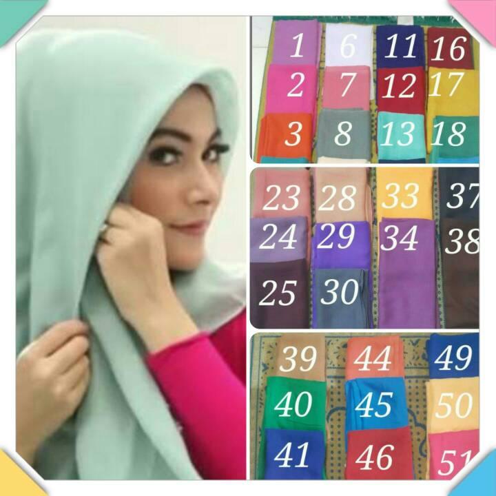 jilbab paris-hijab paris-kerudung paris segiempat polos