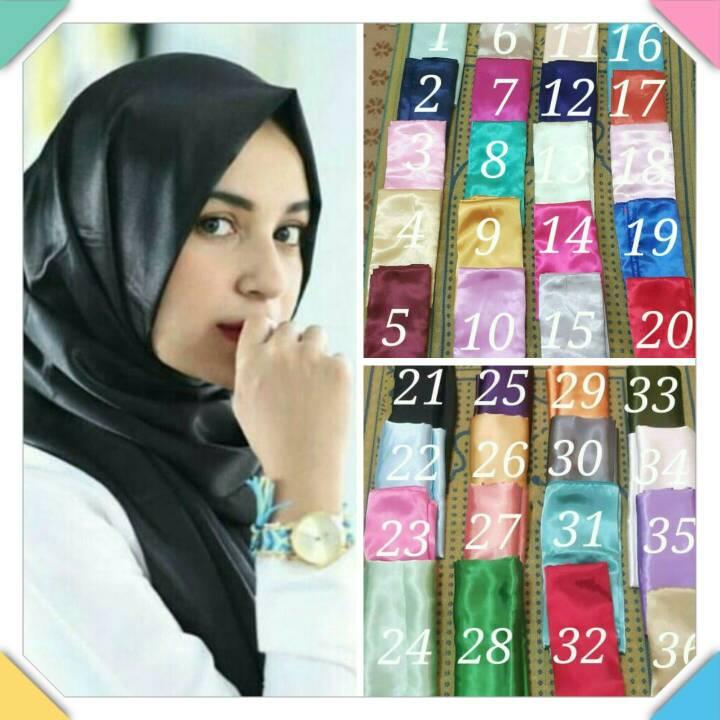 Jilbab Pashmina Satin-Hijab Pashmina Satin-Kerudung Pashmina Satin