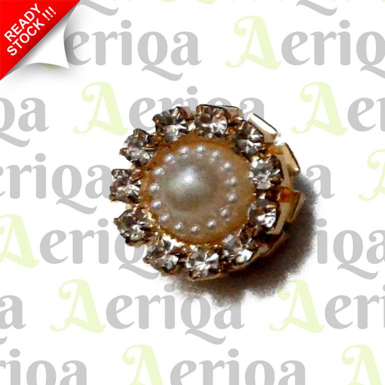 Magnetic Hijab Broche / Bros Jilbab Magnet Turki - Pearl Rose / Bunga