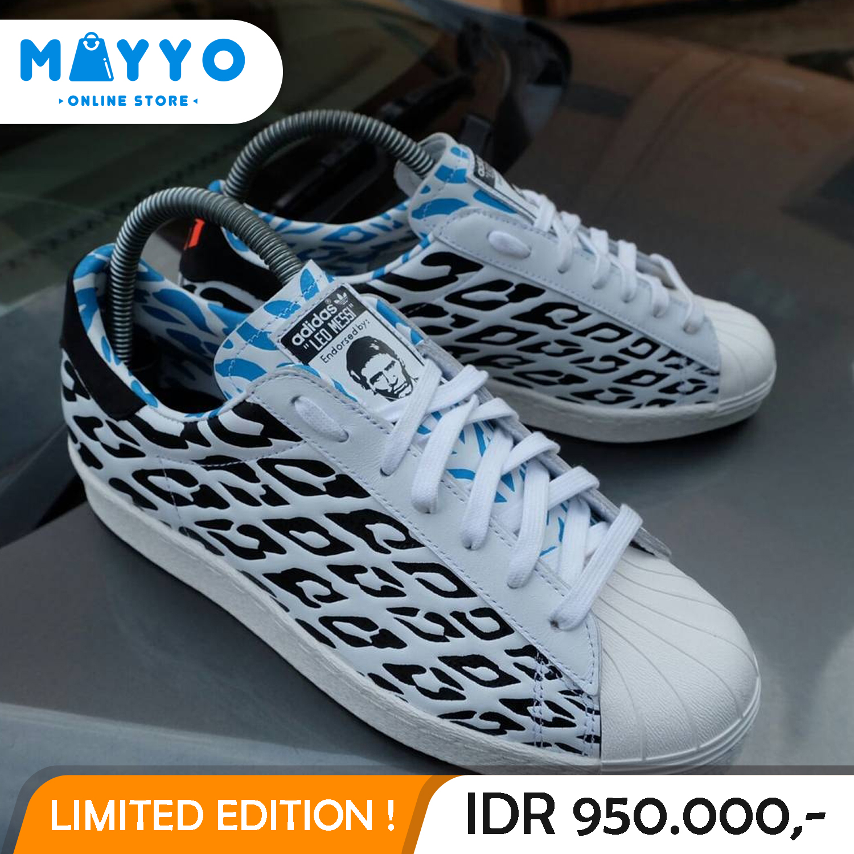 Jual Sepatu Adidas Superstars 80 s World Cup Battle Pack (Leo Messi) Origin  - MAYYO ONLINE STORE  7982abd09b