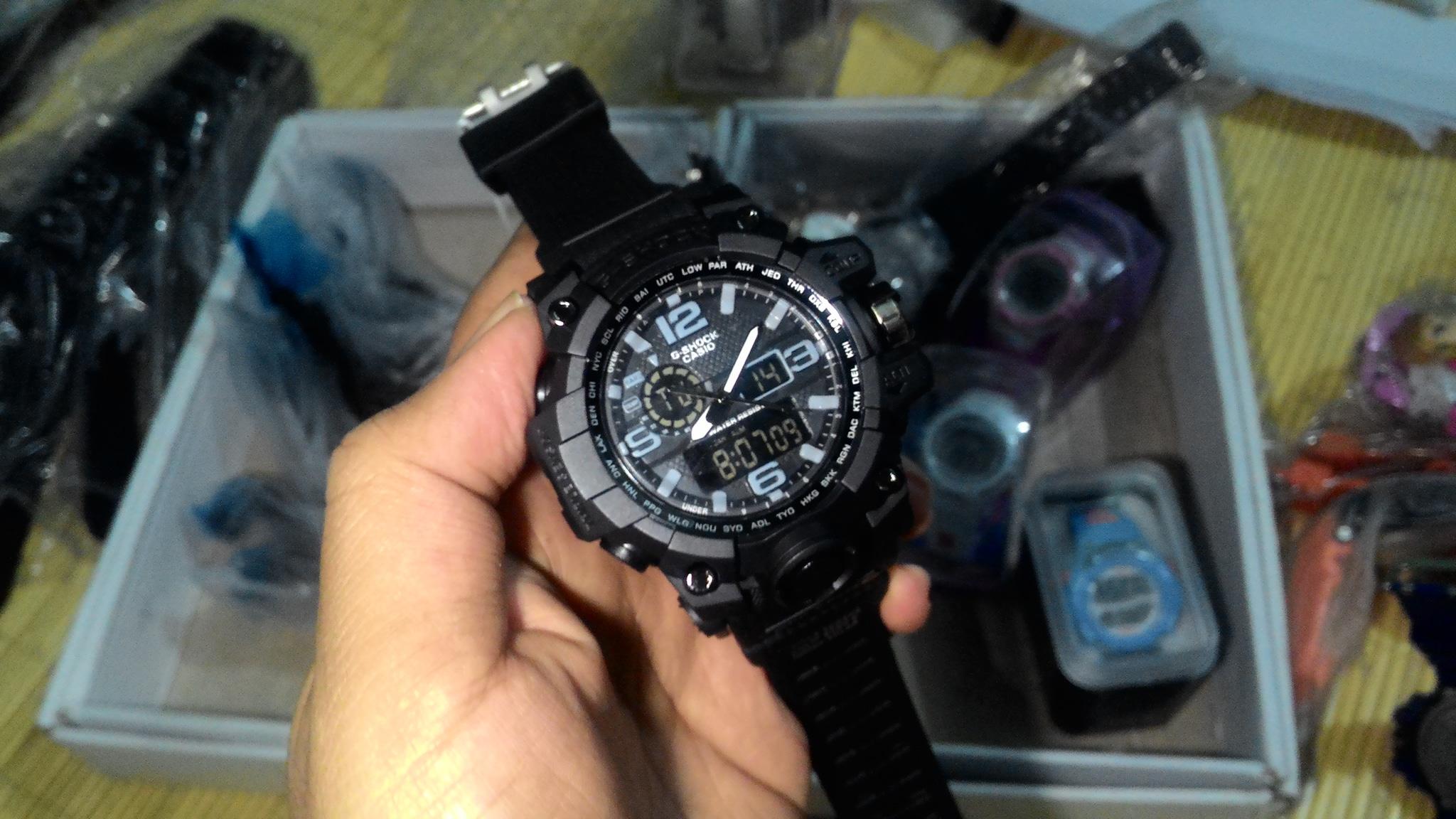 g shock gwg 1000 full black hitam gshock gwg1000 sporty jam tangan